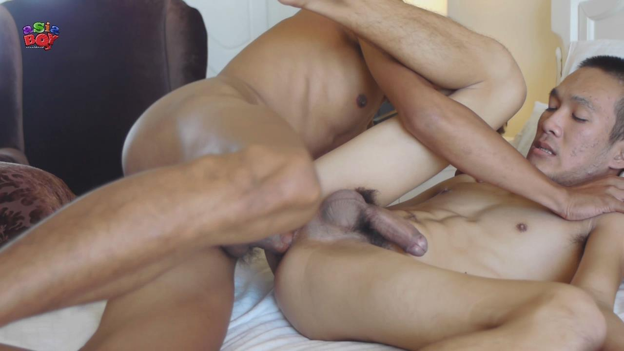 asian boy cum